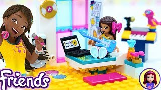 Lego Friends Andrea's Bedroom Build Silly Play with Kids Toys