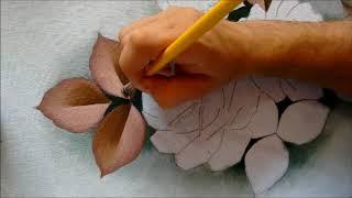 Folhas secas – Pintura em Tecido por Roniel Coimbra