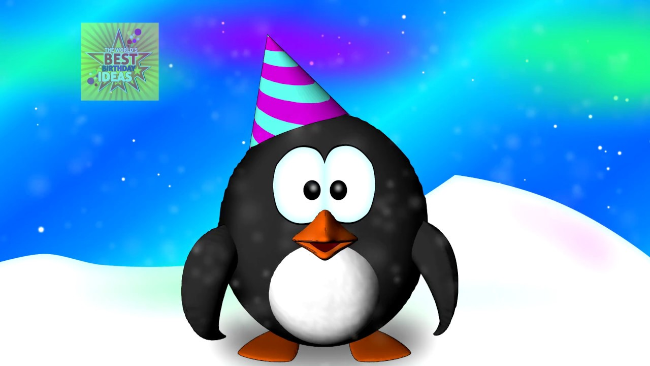 Happy Birthday Penguin Dance Funny Penguin Birthday Song Youtube