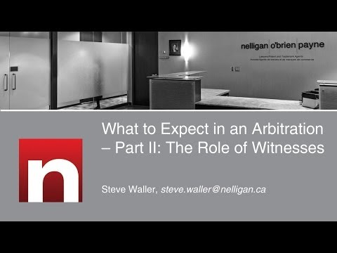 What to Expect in an Arbitration - Part II: The Role of Witnesses