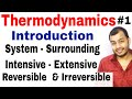 Class 11 Chapter 6 | Thermodynamics Introduction | Reversible and Irreversible Process IIT JEE /NEET