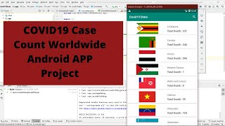 Covid19 Real Time Counter, World Map,  Android Studio Project, Android App Project