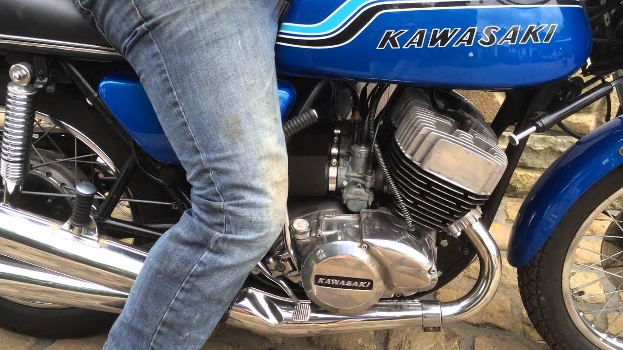 Kawasaki H2 750 triple 1971 for sale on eBay - YouTube