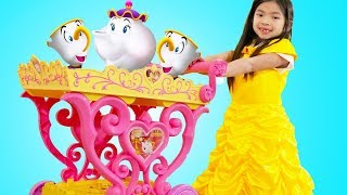 Emma Play with Disney Princess Belle Musical Tea Party Cart thumbnail