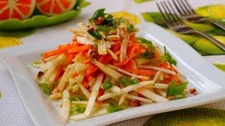 Салат с морковью, сельдереем и яблоком