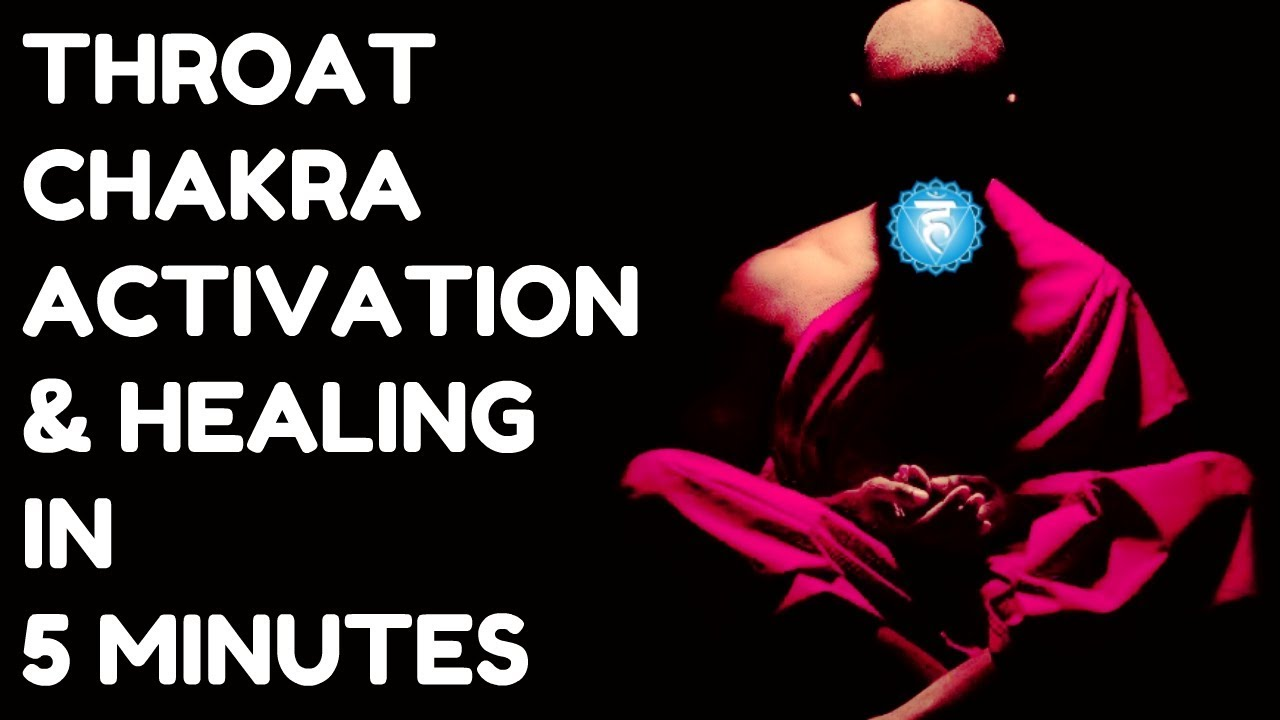 THROAT CHAKRA ACTIVATION & HEALING IN 5 MINUTES : FAST DETOX, IMPROVE VOICE  !