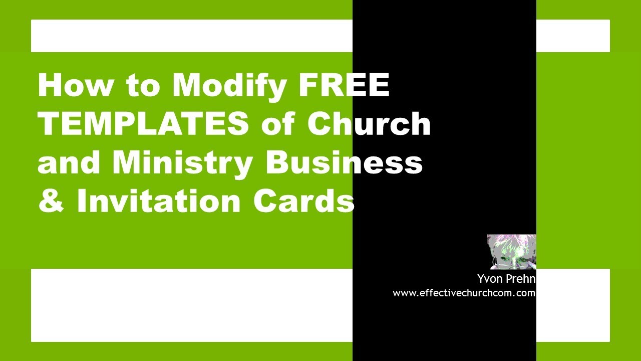 Video How To Modify The Free Templates For Church Business