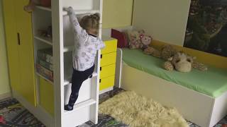 IKEA STUVA (LEFT SIDE LADDER) dviaukste lova surinka i kita puse - Ard Family TIME