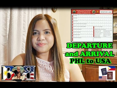 K1 Visa: Departure/Arrival Experience and Tips! Philippines to Texas Flight! March 17, 2017(Taglish)