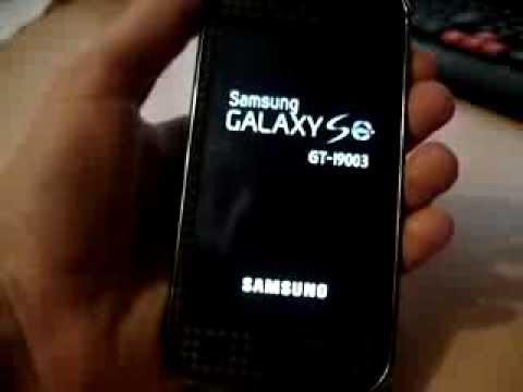 Samsung i9003 не включается после прошивки