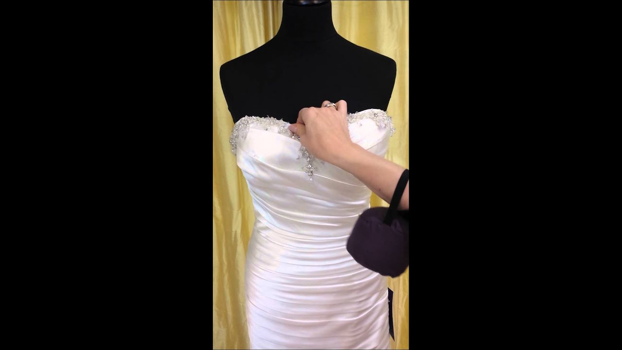 How To Bling Up A Wedding Dress - YouTube