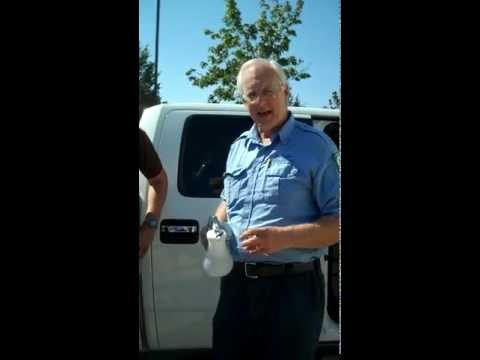 Tar On Truck Upholstery? Watch It Disappear Pettyjohn's Solution and Textile Gun