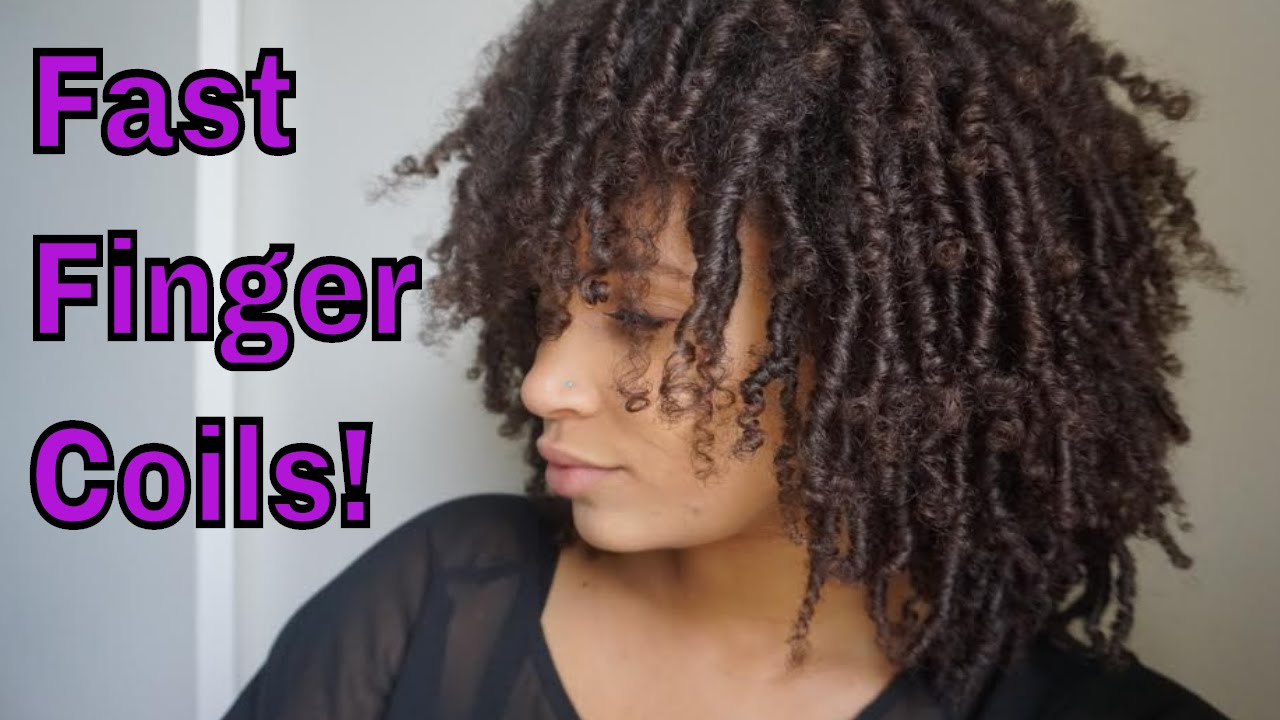 natural hair   how to do finger coils fast!!!