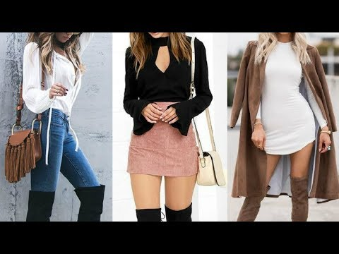 OUTFITS DE MODA TENDENCIAS OTOu00d1O INVIERNO 2017 2018 Casual Look - YouTube