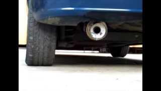 Instalando muffler silenciador Spec-d Tunning tipo fireball en Chevrolet Aveo
