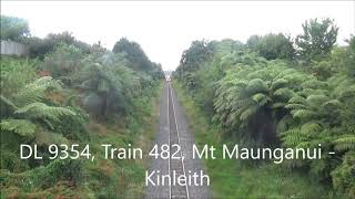 DL 9354 passing under Omokoroa Road with Train 482
