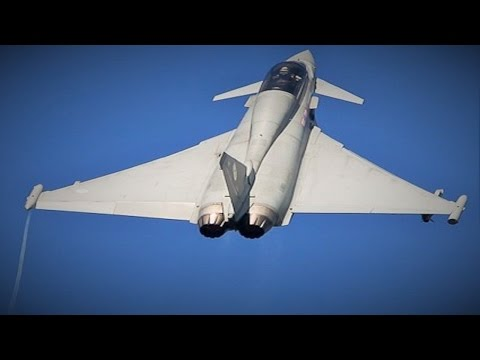 New Royal Saudi Airforce Typhoon goes vertical on take-off