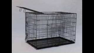 Best Pet Black 55 Triple Door Suitcase Style Folding Metal Dog Crate