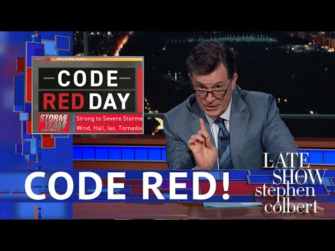 "Stephen Colbert Shines On Fired ""Code Red"" Meteorologist – Deadline"