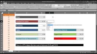 Calculating and Interpreting tнe Standard Error of Measurement using Excel