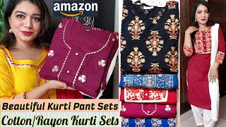 Amazon Kurti Haul| Flipkart Kurti Haul| Amazon Online shopping Haul| Affordable Kurti Haul |Pink's