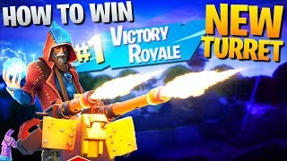 HOW TO WIN | Using The NEW Mounted Turrets (Fortnite Battle Royale)