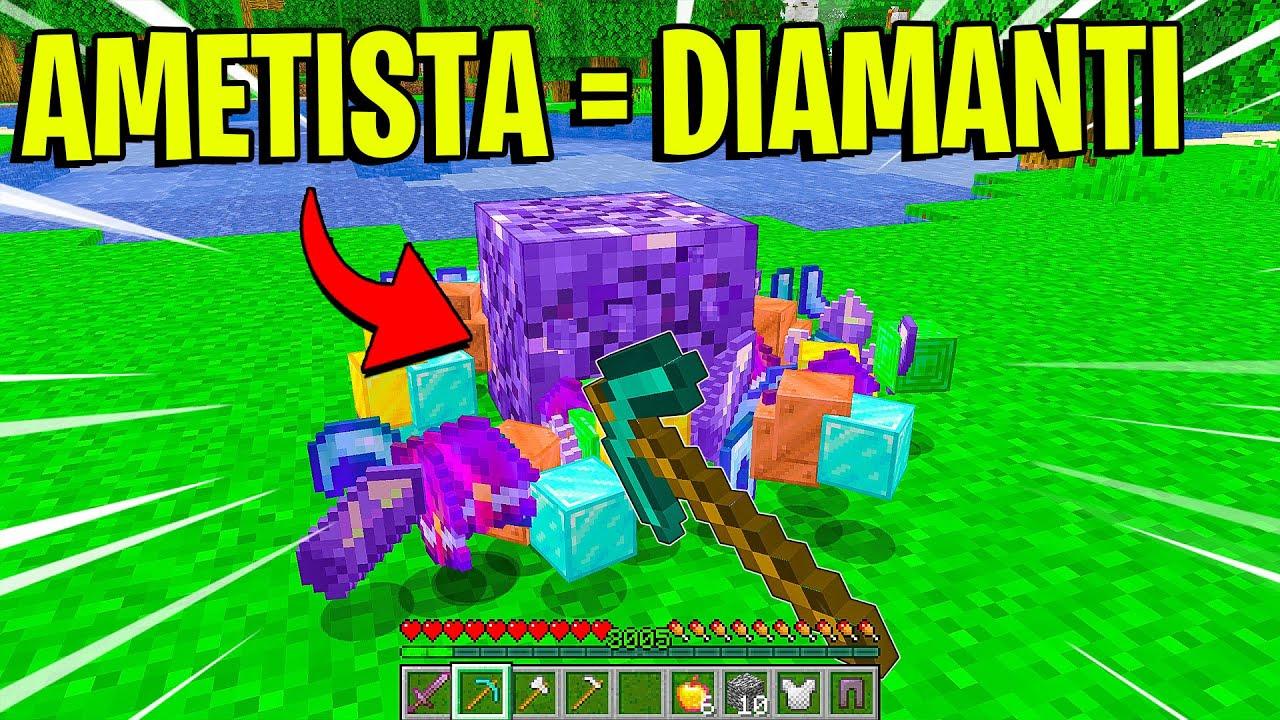 MINECRAFT MA L' *AMETISTA* DROPPA *DIAMANTI* - Minecraft ITA