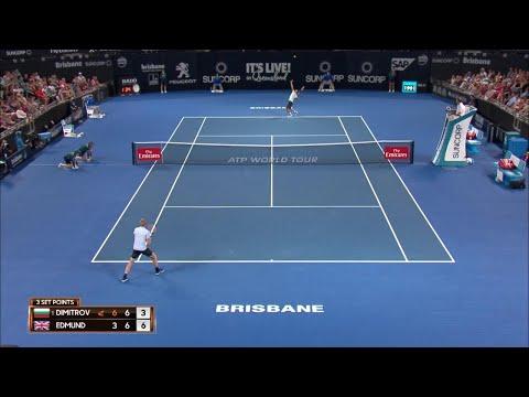 Dimitrov vs Edmund Match Highlights (QF) | Brisbane International 2018