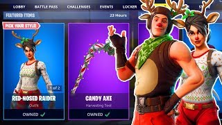 🔴 *NEW* RED NOSED RAIDER SKIN! FORTNITE ITEM SHOP COUNTDOWN! (Fortnite Battle Royale LIVE)