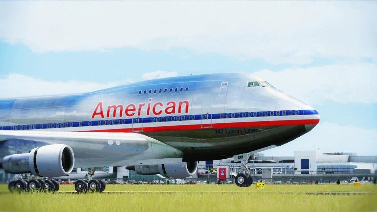 American Boeing 747sp Landing Athens Hd Youtube