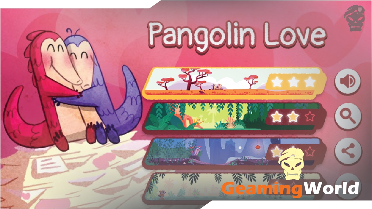 Valentine S Day Games 2017 Pangolin Love By Google