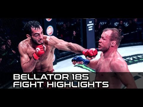 Gegard Mousasi Bruised but Wins; Heather Hardy Breaks Face in Loss (Bellator 185 Fight Highlights)