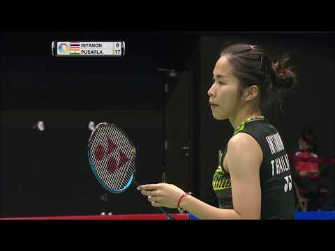 Yonex-Sunrise Hong Kong Open 2017 | Badminton SF M3-WS | Ratchanok Intanon vs Pusarla V. Sindhu