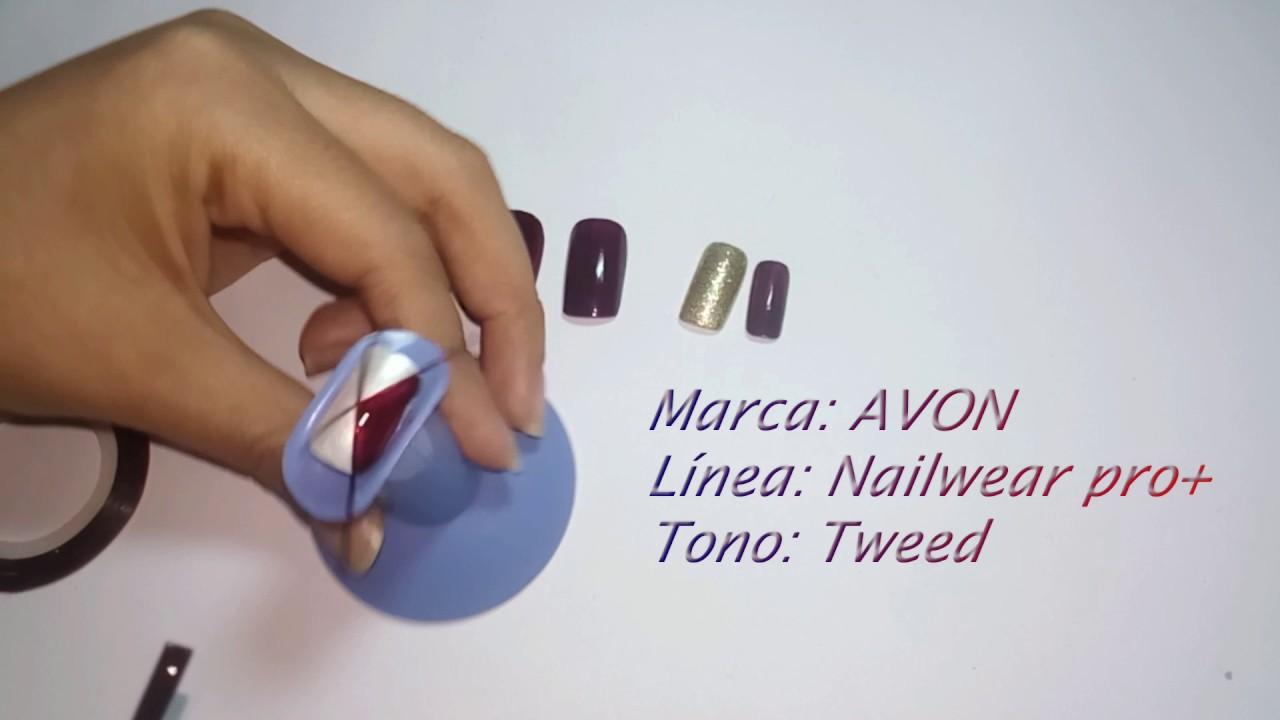 Diseño de uñas fácil Otoño - Invierno - YouTube