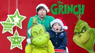 Little Grinch Steals Santas Magical Sleigh with Buddy the Elf and pretend play fun