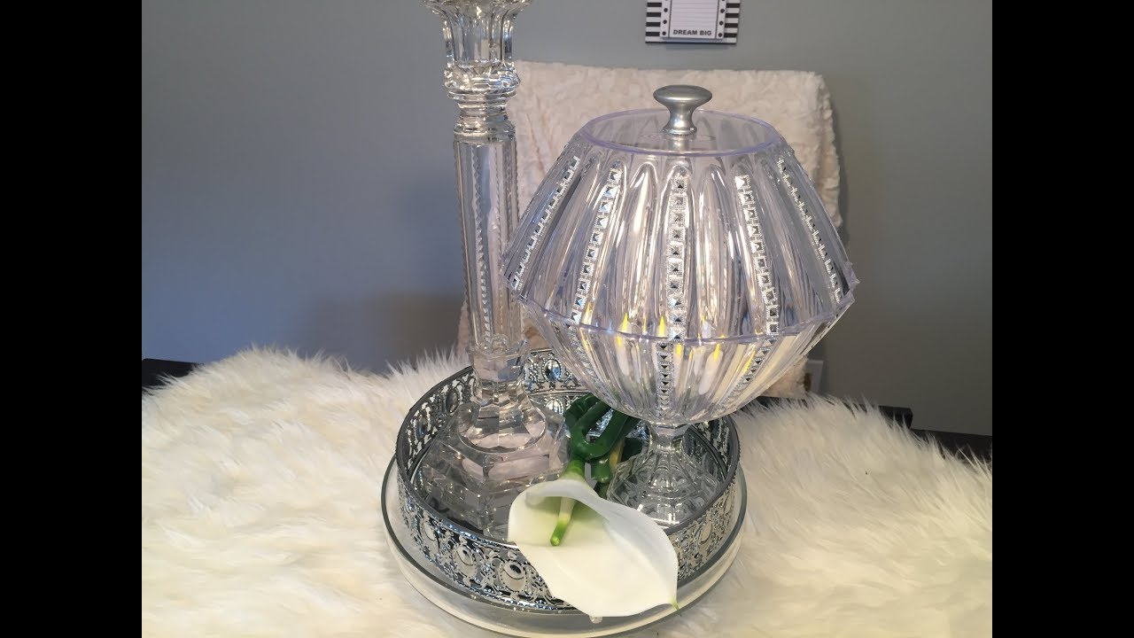 Dollar Tree DIY | DIY Dollar Tree Crystal Vase | Vanity ...
