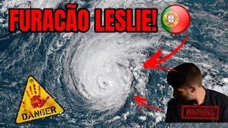 SAI À RUA NAS HORAS DE MAIOR INTENSIDADE DO FURACÃO LESLIE! ( PERIGOSO - FURACÃO LESLIE - PT! )