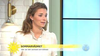"""Nytt temperaturrekord: """"Vet inte om det varit så varmt i Sverige""""  - Nyhetsmorgon (TV4)"""