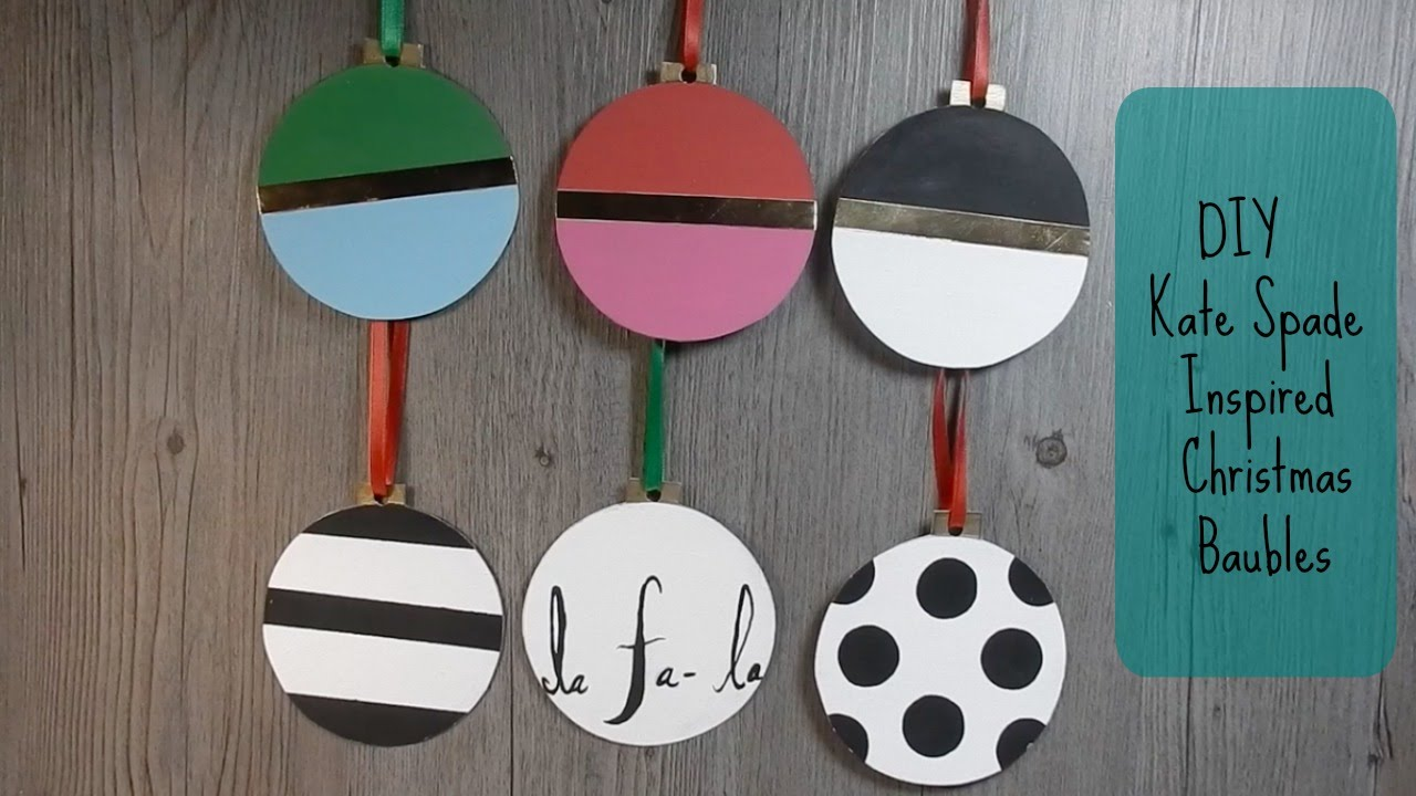 DIY Kate Spade Inspired Ornaments for Christmas from Cardboard ...
