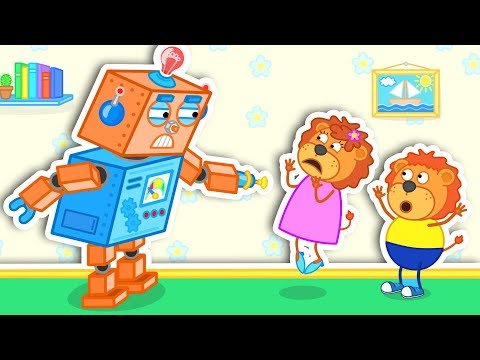 Lion Family 🦁 Robot Went Out of Control 👪 Cartoon for Kids thumbnail