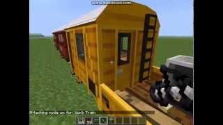обзор мода на поезда и паровозы, вагоны и локомотивы - TrainCraft в майнкрафт (MineCraft) - Часть 1