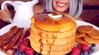 ASMR Eating Giant Breakfast *Brunch Feast ft Tasty Perfect Fluffy Pancake