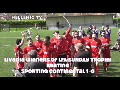 London FA Sunday Trophy Final  Livadia FC 1 v  Sporting Continental 0 2.4.17