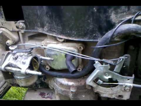 briggs and stratton carb adjustment diagram big 3 upgrade wiring murray tecumseh ohv16 throttle linkage - youtube