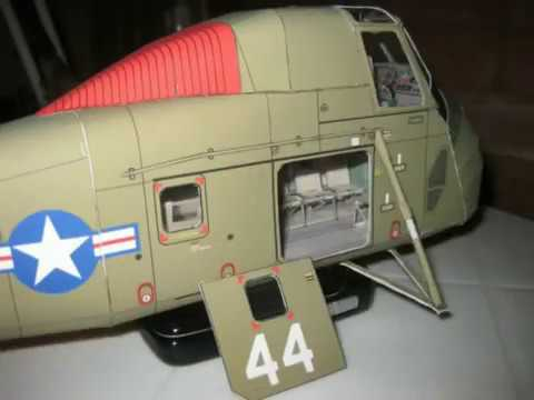Papercraft Sikorsky CH-34C Seahorse 1:32 paper model (part 1)