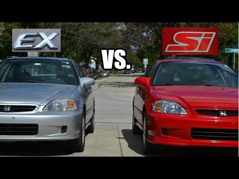 What is the difference between a 2000 Honda Civic Si vs. 2000 EX?