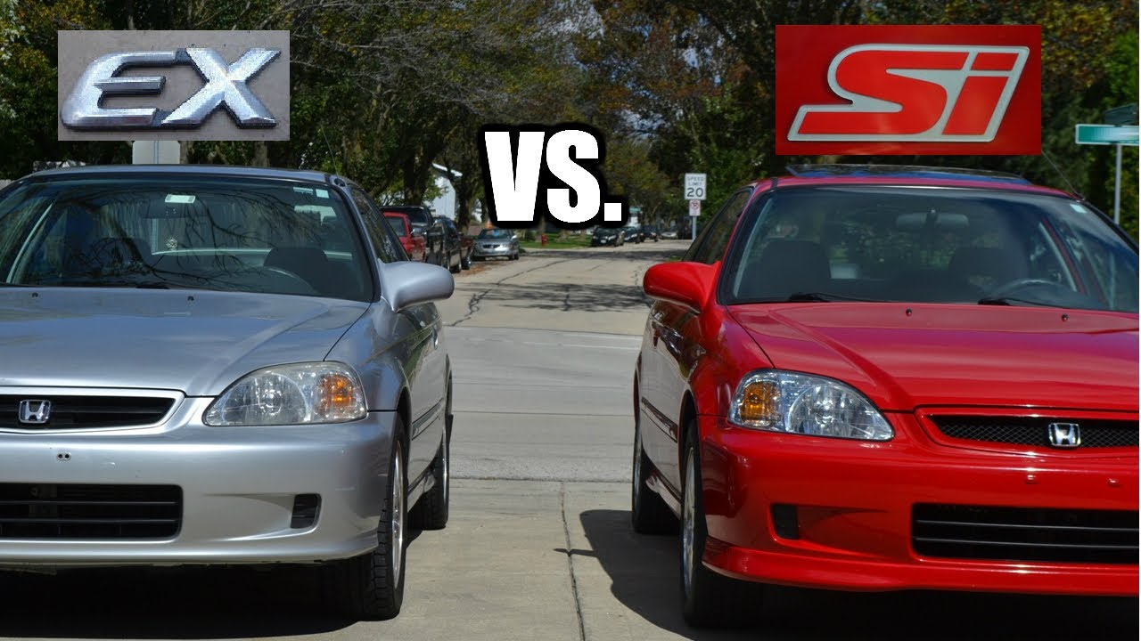 What Is The Difference Between A 2000 Honda Civic Si Vs. 2000 EX?   YouTube