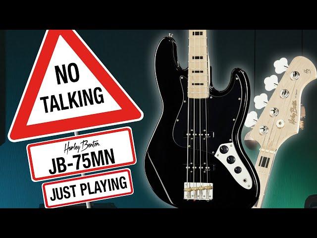 Harley Benton - No Talking - JB-75 MN Black - Just Playing -