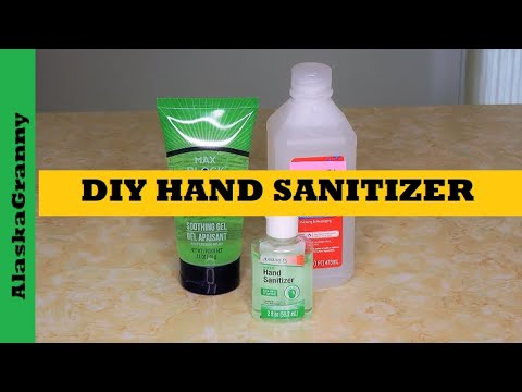 Diy Hand Sanitizer How To Make Hand Sanitizer Youtube