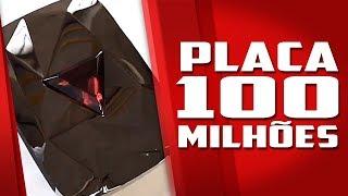 A nova placa de 100 milhões de inscritos do Youtube, o diamante rubi